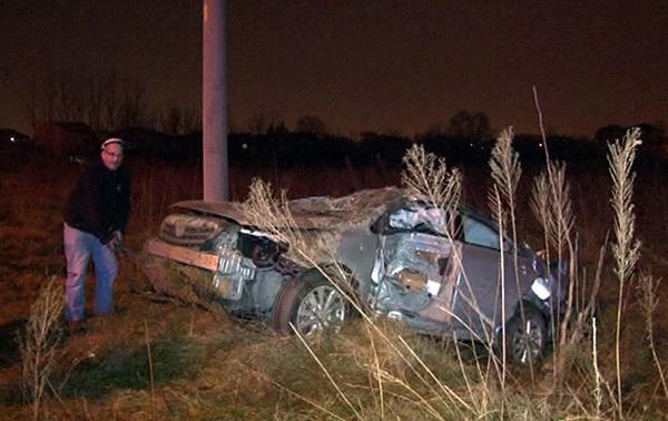 Otomobil tarlaya uçtu: 2 Yaralı