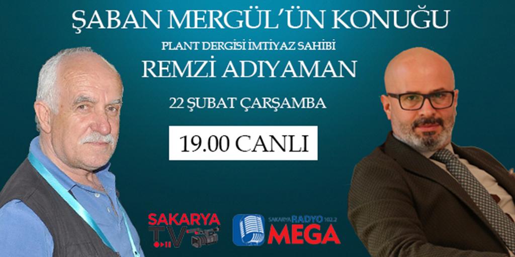 Remzi Adıyaman, Radyo Mega ve Sakarya TV'de canlı yayında