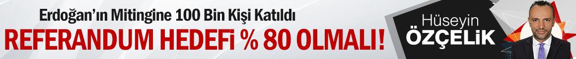 Cumhurbaşkanı Erdoğan'ın Mitingine 100 Bin Kişi Katıldı / Referandum Hedefi % 80 Olmalı!