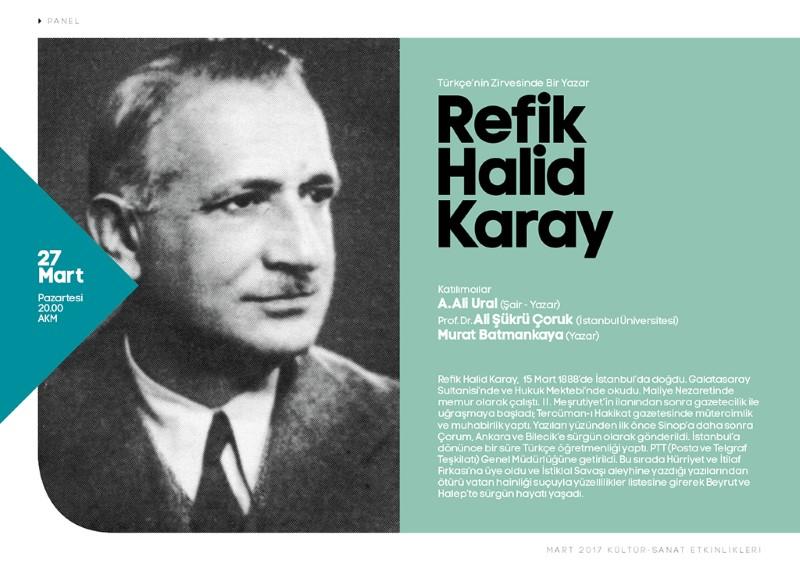 Refik Halid Karay AKM'de konuşulacak