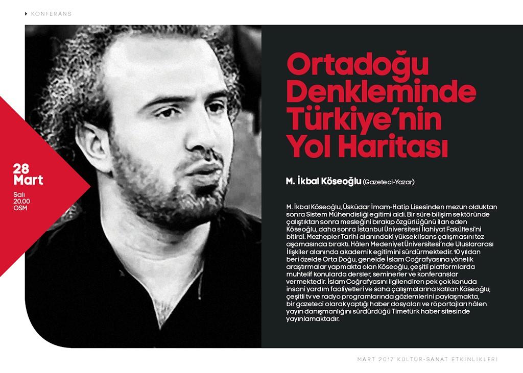 Ortadoğu Denkleminde Türkiye'nin Yol Haritası