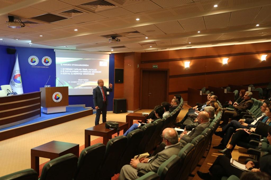 SATSO'da iş hukuku ve iş davaları semineri yapıldı